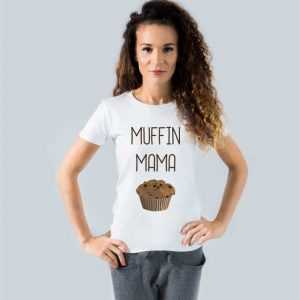 koszulka z nadrukiem muffin mama
