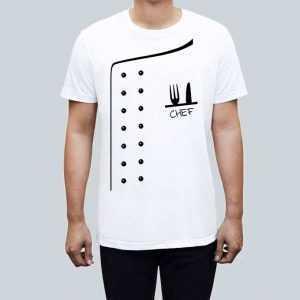 koszulka dla mezczyzn z nadrukiem chef