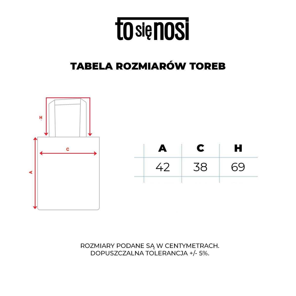 tabela rozmiaru toreb