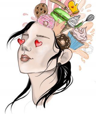 Głowa w słodkościach