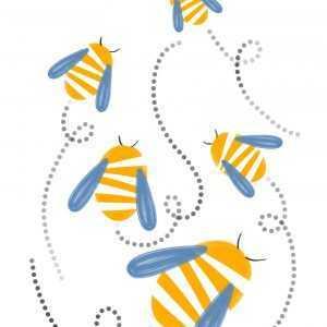 pszczoły rysunek