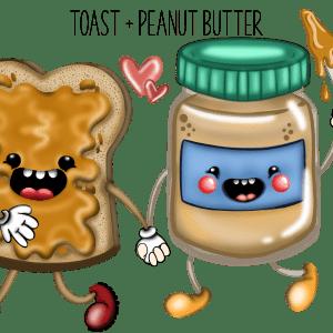 Toast & peanut butter